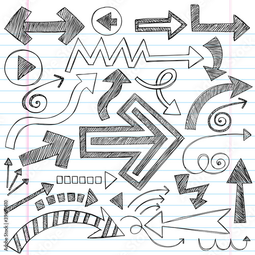Arrows Sketchy Notebook Doodles Vector Design Elements