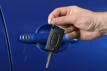 Handing over a car key