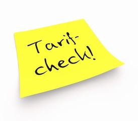 Notizzettel - Tarifcheck!