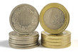 euro and swiss franc coin