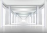 White interior. Vector illustration.
