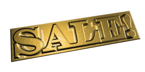 3D Goldschrift - SALE