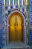 Fototapety Gate of the Dar el Makhzen - The Royal Palace at Fes, Morocco