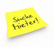 Notizzettel - Suche Mieter!