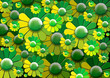 Green Flowers Background