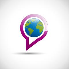 Logo speaking world # Vector
