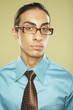 Middle Eastern businessman wearing eyeglasses
