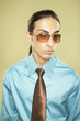 Middle Eastern businessman wearing sunglasses