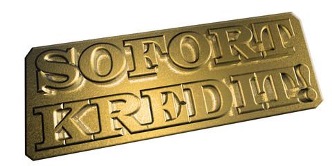 3D Goldschrift - SOFORTKREDIT