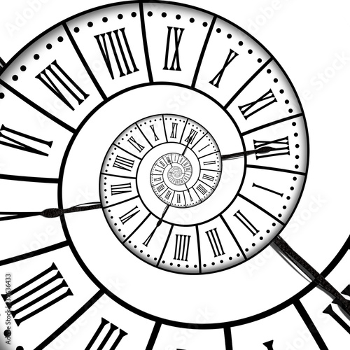 Leinwandbild Motiv Horloge ancienne, spirale