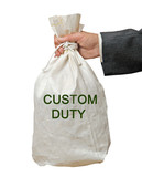 bag with custom duty