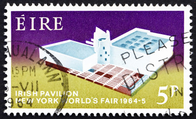 Postage stamp Ireland 1964 Irish Pavilion, New York World's Fa