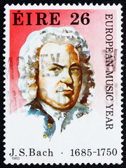 Postage stamp Ireland 1985 Johann Sebastian Bach, Composer