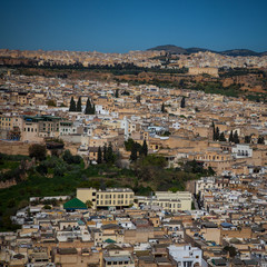 Panorama detail of the Fes (Fez), Morocco (1)