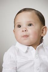 Studio shot of baby boy