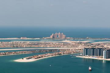 sztucznej wyspie Palm Jumeirah i Atlantis hotel, Dubai, Zjednoczone Emiraty Arabskie