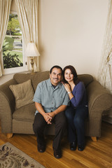 Portrait of middle-aged Hispanic couple