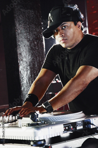 Portrait of Hispanic male dj
