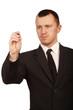 Businessman hand holding pen