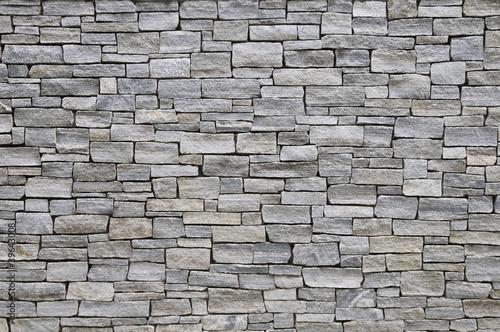Leinwandbild Motiv Steinmauer, Morningsight Hights, New York, USA