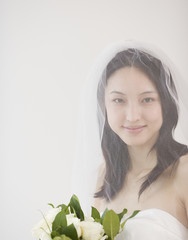 Portrait of Asian bride