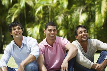 South American men laughing
