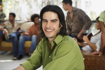 South American man at party