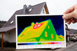 thermal imaging of a detached house