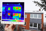 thermal imaging of a row house