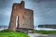 Ruins of Ballybunion castle at the ocean, Ireland