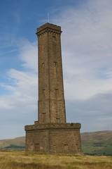 Peel Tower, on the West Pennine Moors in Lancashire