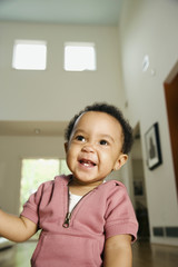 African baby laughing