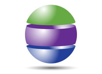 Three Part Sphere