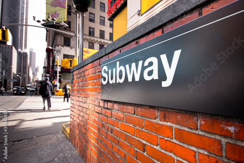 New York City Subway Entrance on Street
