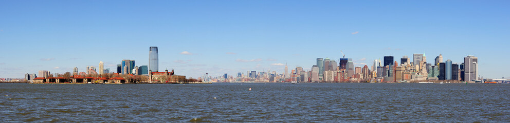 New Jersey and New York City Manhattan skyline panorama