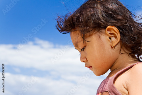 cute asian little girl portrait