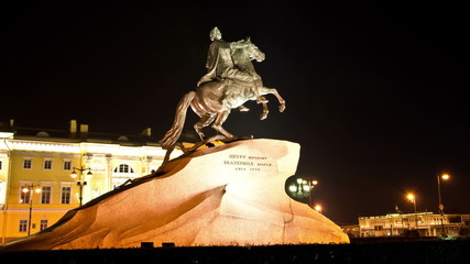 St. Petersburg, Peter The Great Statue at night