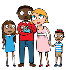 Mixed ethnicity family