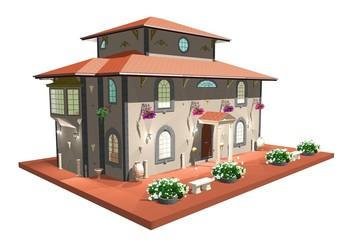 Palazzo d'Epoca-Liberty-Vintage House-3d