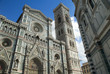Facade of the duomo or cathedral in Florence Italy