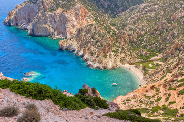 Faros bay, Polyaigos island, Cyclades, Greece