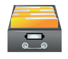catalog - drawer with folders for files