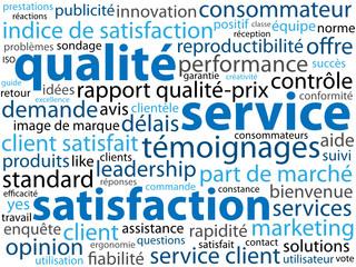 Nuage de Tags SATISFACTION - SERVICE - QUALITE (garantie client)