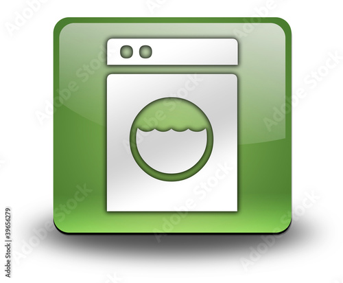 "Green 3D Effect Icon ""Laundromat"""