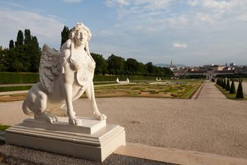 Blick vom Belvedere auf Wien