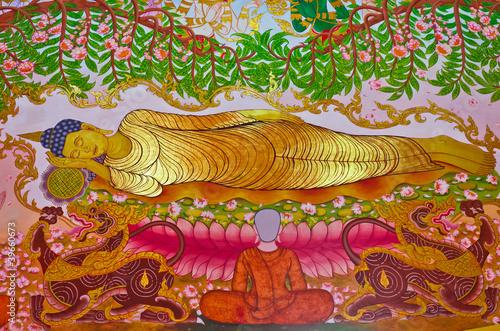 Buddha's Biography: Buddha dying moment