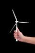 wind turbine in hands