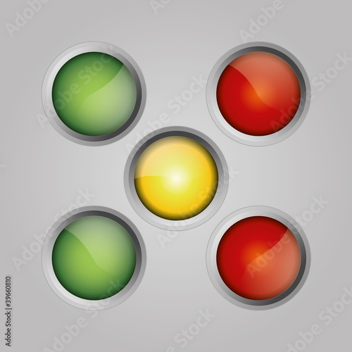 Button set ampel kugel globus icon farben kreis aqua shine