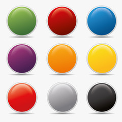 Button set und kreis Kugel icon farben globus aqua shine badge