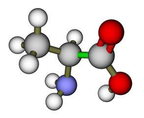 Amino acid alanine molecular structure